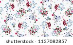 Stock vector seamless floral pattern in vector 1127082857