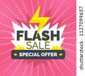 flash sale banner template... | Shutterstock .eps vector #1127099657