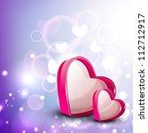 pink valentine hearts. eps 10. | Shutterstock .eps vector #112712917