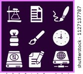 set of 9 tool filled icons such ... | Shutterstock .eps vector #1127137787