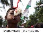 jakarta  indonesia   august 17  ... | Shutterstock . vector #1127139587