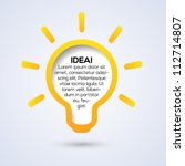 light bulb idea conceptual... | Shutterstock .eps vector #112714807