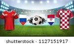 football cup 2018 world... | Shutterstock .eps vector #1127151917