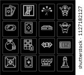 set of 16 icons such as pawn ...