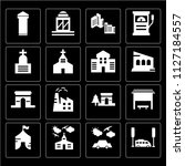 set of 16 icons such as bus ...   Shutterstock .eps vector #1127184557