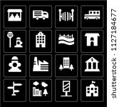 set of 16 icons such as school  ... | Shutterstock .eps vector #1127184677