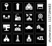 set of 16 icons such as arch ...   Shutterstock .eps vector #1127184683