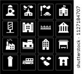 set of 16 icons such as... | Shutterstock .eps vector #1127184707