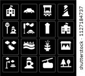 set of 16 icons such as trees ... | Shutterstock .eps vector #1127184737