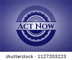 act now emblem with jean high... | Shutterstock .eps vector #1127203223