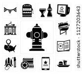 set of 13 simple editable icons ... | Shutterstock .eps vector #1127203643