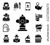 set of 13 simple editable icons ... | Shutterstock .eps vector #1127203673