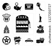 set of 13 simple editable icons ... | Shutterstock .eps vector #1127203727