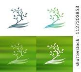 abstract tree concept logo.   Shutterstock .eps vector #1127203853