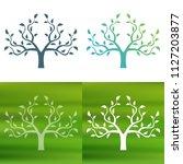 abstract tree concept logo.   Shutterstock .eps vector #1127203877