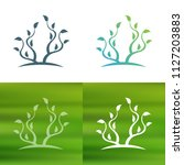 abstract tree concept logo.   Shutterstock .eps vector #1127203883