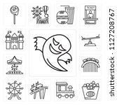 set of 13 simple editable icons ... | Shutterstock .eps vector #1127208767