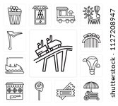 set of 13 simple editable icons ... | Shutterstock .eps vector #1127208947