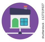 flat icon design of home area...