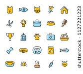 pet logo design template set.... | Shutterstock .eps vector #1127221223
