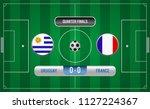 match of quarter finals.soccer... | Shutterstock .eps vector #1127224367