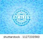 facility light blue mosaic...   Shutterstock .eps vector #1127233583