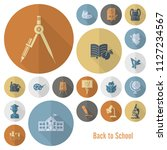 school and education icon set.... | Shutterstock .eps vector #1127234567