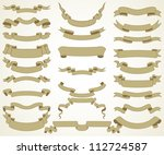 set of vector vintage banners | Shutterstock .eps vector #112724587