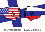 usa to meet russia in helsinki... | Shutterstock .eps vector #1127252483