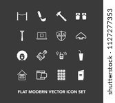 modern  simple vector icon set... | Shutterstock .eps vector #1127277353