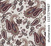 traditional paisley pattern   Shutterstock .eps vector #1127279987