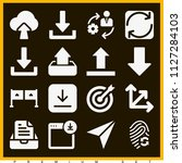 set of 16 arrows filled icons...   Shutterstock .eps vector #1127284103