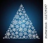 christmas tree  snowflake... | Shutterstock . vector #112729297