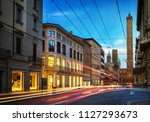 two famous falling bologna... | Shutterstock . vector #1127293673