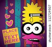 monster on retro background | Shutterstock .eps vector #112729507