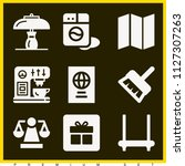 set of 9 other filled icons...   Shutterstock .eps vector #1127307263