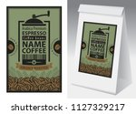 paper packaging with label for... | Shutterstock .eps vector #1127329217