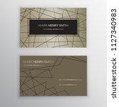 vector business card. luxury... | Shutterstock .eps vector #1127340983