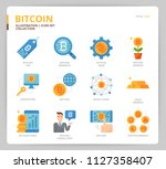 bitcoin icon set | Shutterstock .eps vector #1127358407