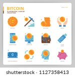 bitcoin icon set | Shutterstock .eps vector #1127358413