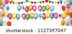 german text alles gute zur... | Shutterstock .eps vector #1127397047