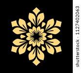 golden vector pattern on a... | Shutterstock .eps vector #1127402063