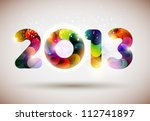 Happy new year 2013! - stock vector