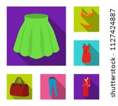 women clothing flat icons in... | Shutterstock .eps vector #1127424887
