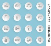 gadget web icons on light paper ... | Shutterstock .eps vector #1127429207