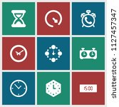 countdown icon. collection of 9 ... | Shutterstock .eps vector #1127457347