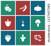 vegetarian icon. collection of... | Shutterstock .eps vector #1127457383