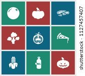 vegetarian icon. collection of... | Shutterstock .eps vector #1127457407