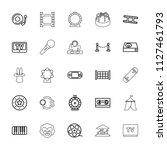 entertainment icon. collection... | Shutterstock .eps vector #1127461793