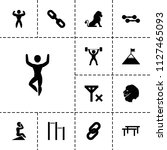 strength icon. collection of 13 ... | Shutterstock .eps vector #1127465093